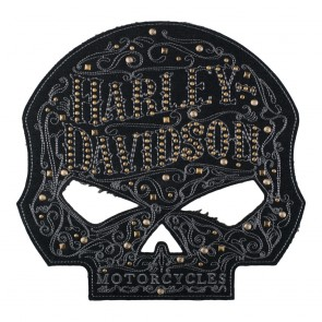 Harley Davidson Studded Ornate Willie-G Skull Sew Patch