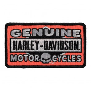 Harley Davidson Genuine Skull Motorcycle Orange Patch