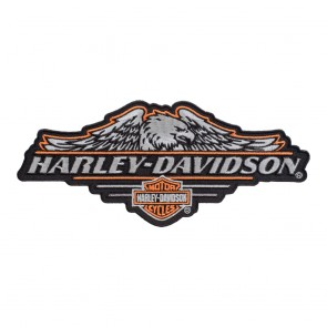 Harley Davidson Subdued Cropped Eagle Bar & Shield Embroidered Patch