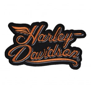 Embroidered Harley Davidson Script H-D Spirit Wing Patch
