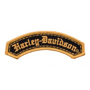 Harley Davidson Black & Gold Old English Embroidered Patch