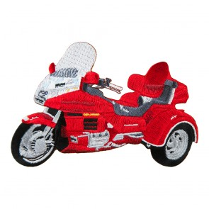 Embroidered Honda Goldwing GL1500 Red Trike Iron On Patch