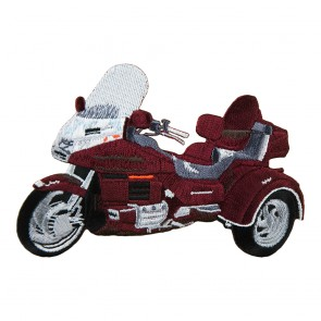 Embroidered Honda Goldwing GL1500 Black Cherry Trike Sew On Patch