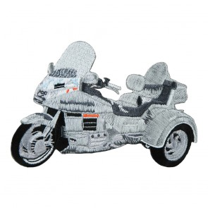 Embroidered Honda Goldwing GL1500 Silver Trike Iron On Patch
