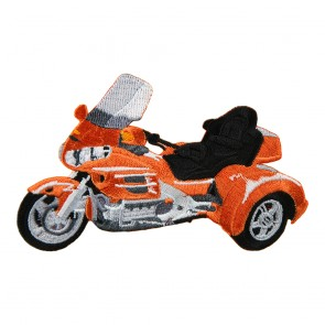 Sew On Honda Goldwing GL1800 Orange Trike Embroidered Motorcycle Patch