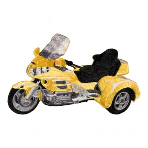 Honda Goldwing GL1800 Yellow Trike Embroidered Patch