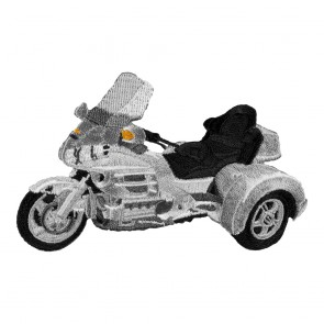 Honda Goldwing GL1800 Silver Trike Patch