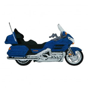 Sew On Honda Touring Goldwing 1800 Blue Embroidered Motorcycle Patch