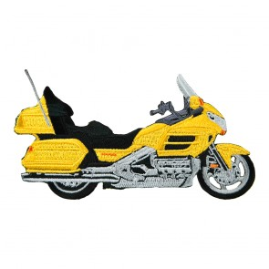 Sew On Honda Touring Goldwing 1800 Yellow Embroidered Motorcycle Patch