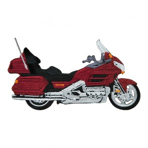 Sew On Honda Touring Goldwing 1800 Burgundy Embroidered Motorcycle Patch