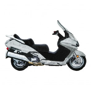 Iron On & Sew On Honda Silverwing Embroidered Silver Motorcycle Patch