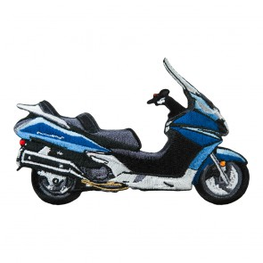 Embroidered Honda Silverwing Blue Patch