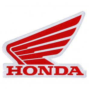 Honda Powersports Red & White Wing Logo Patch