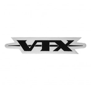 Honda Embroidered Black & White VTX Logo Motorcycle Cut Out Patch