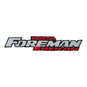 Honda Foreman Rubicon Logo Embroidered Sew On Motorcycle Patch