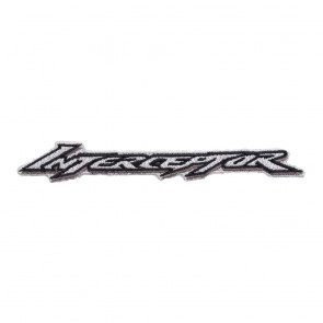 Honda Grey & Black Interceptor Logo Sew On Patch