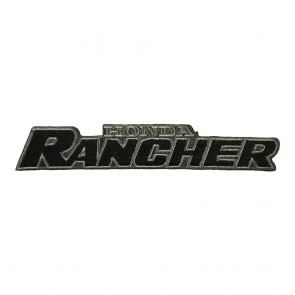 Honda Rancher Logo Embroidered Motorcycle Cut-Out Sew On Patch