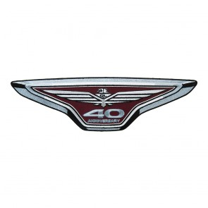 Honda Goldwing 40th Anniversary Embroidered Motorcycle Iron On Patch