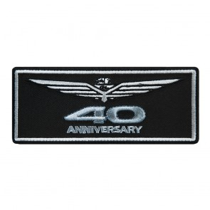 Embroidered Honda Goldwing 40th Anniversary Embroidered Chest Patch