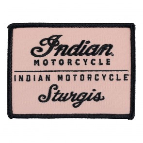 Indian Motorcycle Sturgis Embroidered Tan & Black Sew On Patch