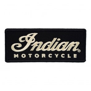 Indian Motorcycle Black And White Logo Sew On Patch