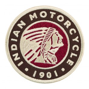 Embroidered Indian Motorcycle Circle Icon 1901 Indian Chief Patch