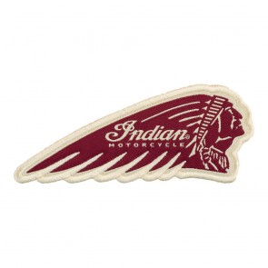 Indian Motorcycle Embroidered Red Headdress Indian Head Patch