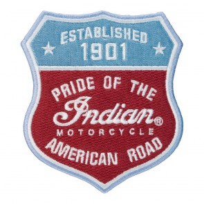 Indian Motorcycle Pride Of The American Road Shield Patch