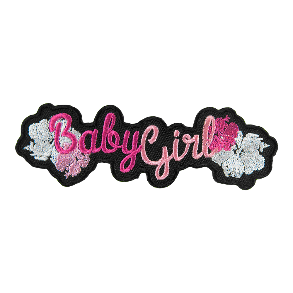Baby Girl Pink Hibiscus Patch, Ladies Sayings Patches