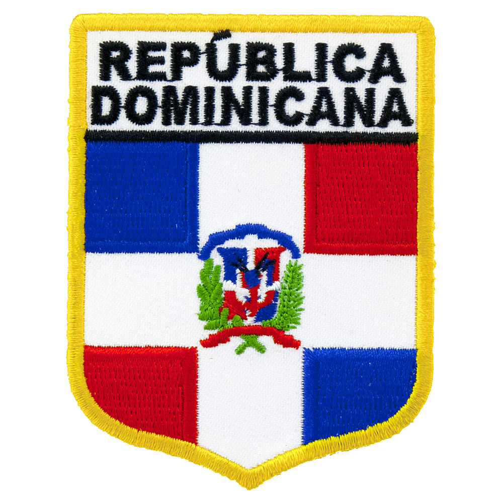Dominican Republic Flag Country Patches Embroidered Iron On