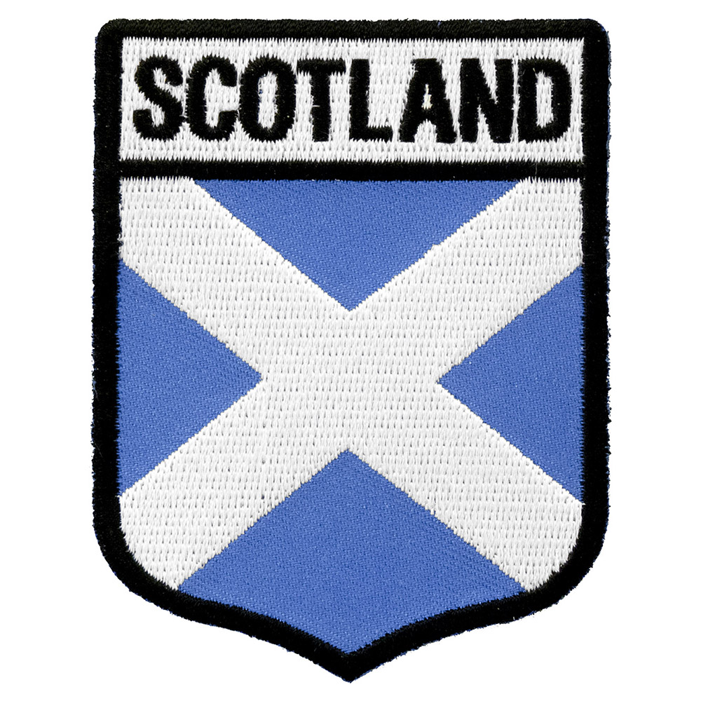 Scotland flag shield patch country flag patches biocorpaavc Choice Image