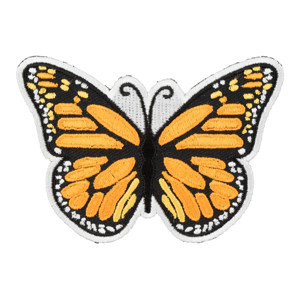 Monarch Butterfly Embroidered Patch b