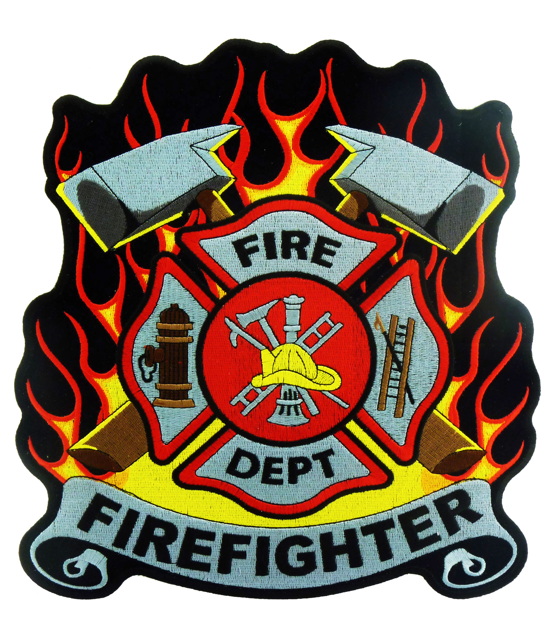 fire department fire rescue firefighter patches embroidered