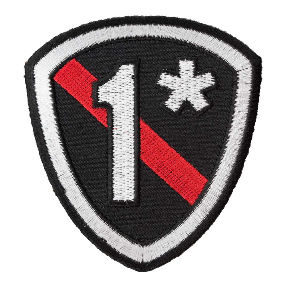 1  Thin Red Line Firefighter Shield Patch 9a06e76140d
