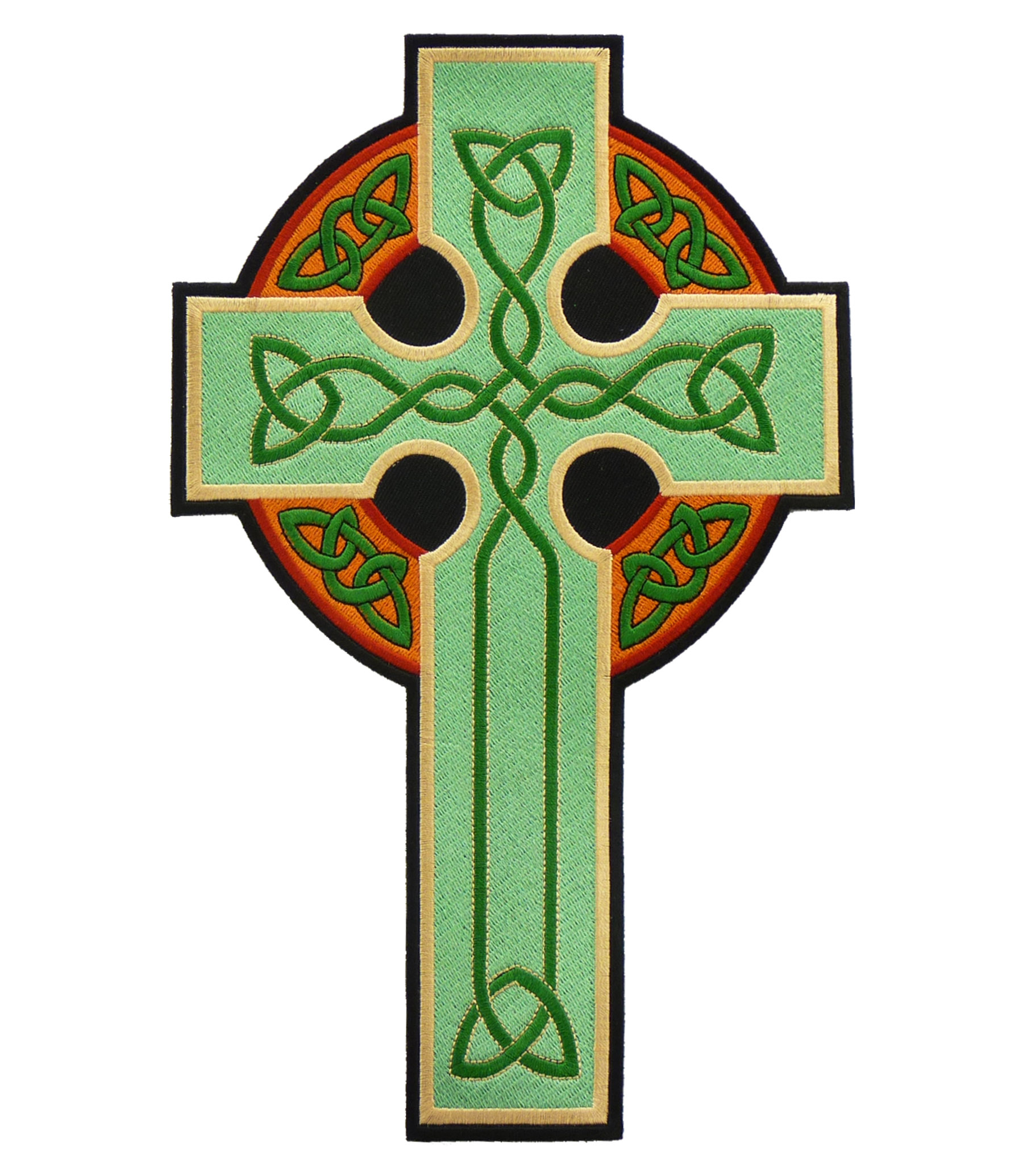 Green gold irish celtic cross patch irish patches voltagebd Images