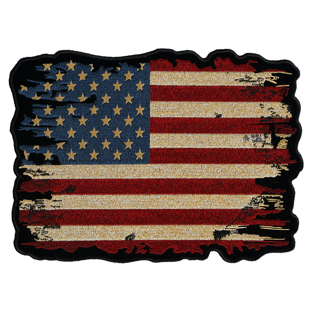 distressed antiqued american flag patch patriotic u s flag patches