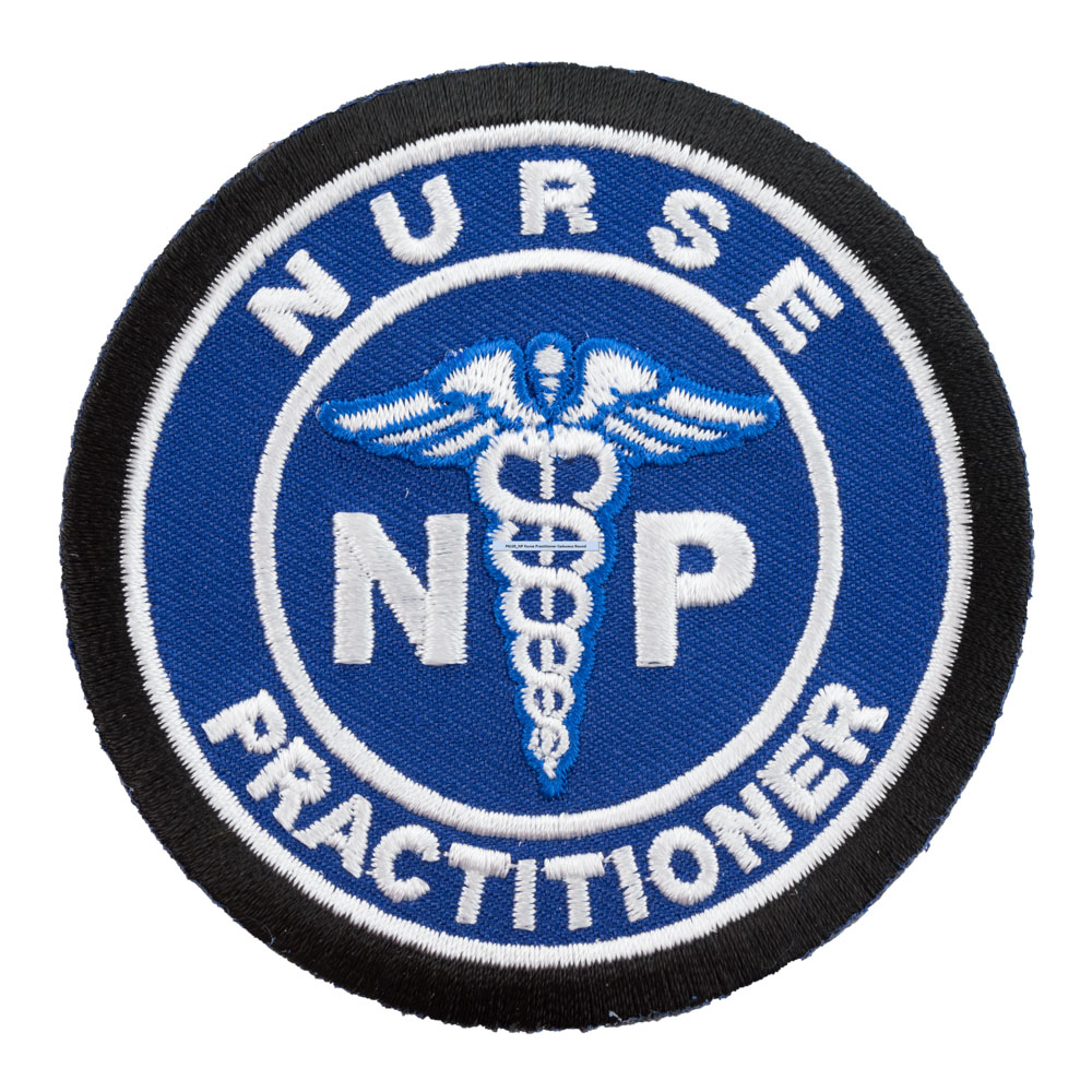 Nurse practitioner medical symbol blue patch medical patches biocorpaavc