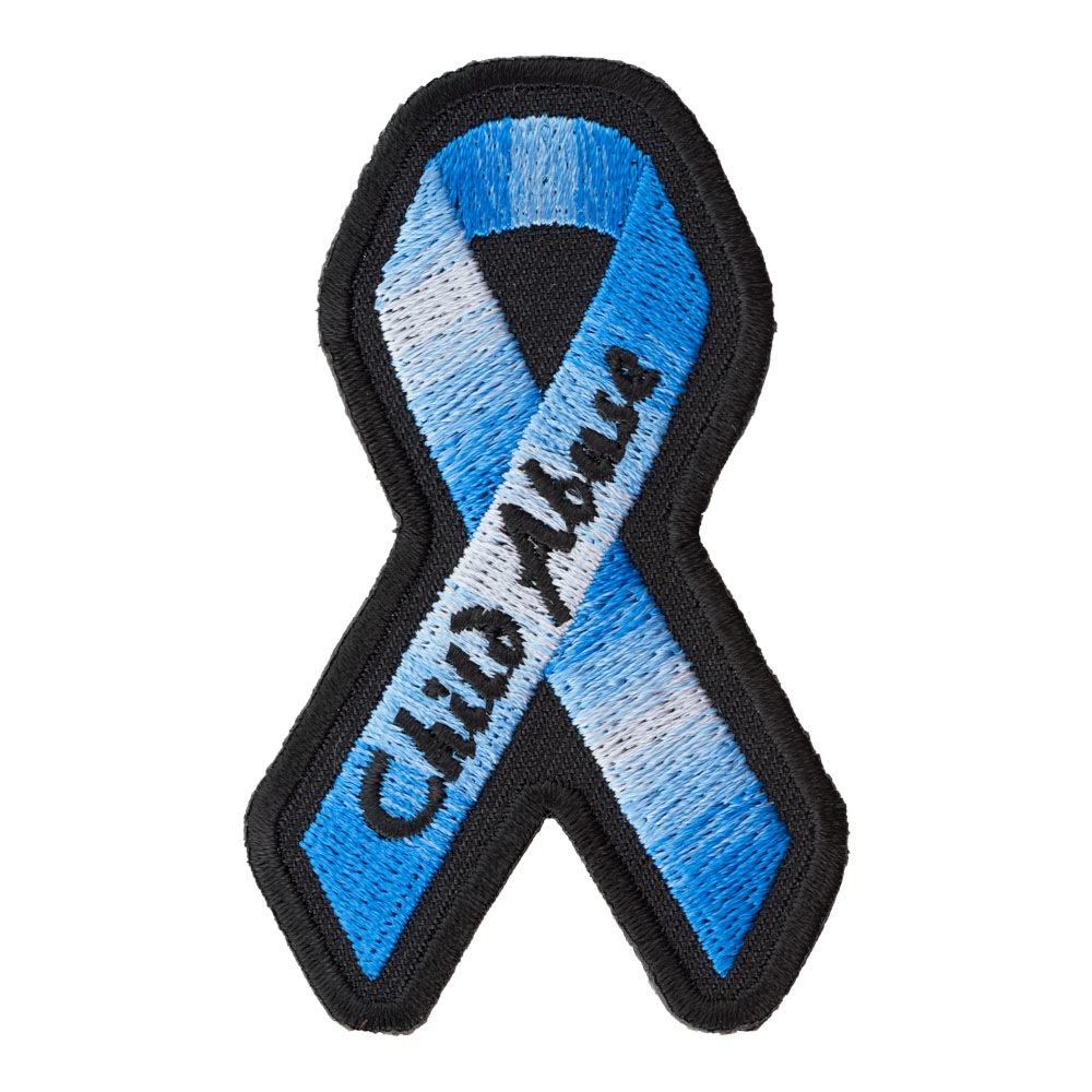 Child Abuse Royal Blue Ribbon Patch Awareness Patches