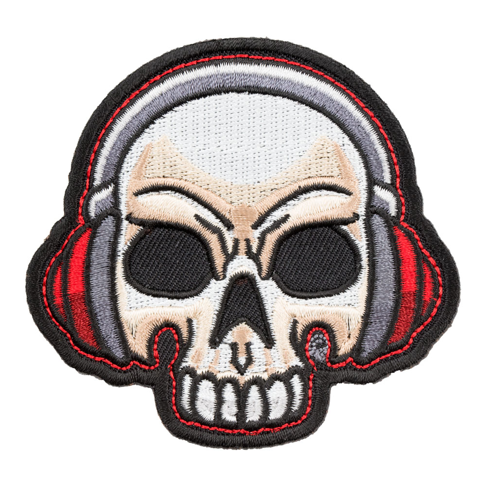 a60daf8b5ac Let Beatz Rock Skull & Headphones Patch | Music Theme Patches