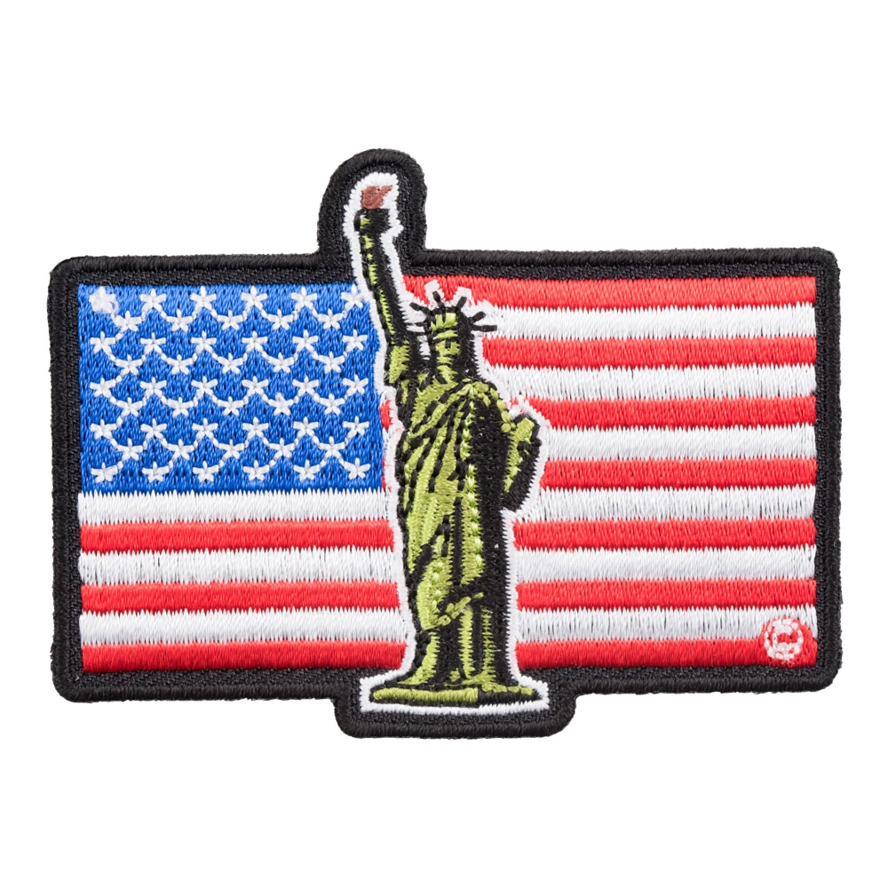 PROUD AMERICAN BIKER embroidered iron-on PATCH USA FLAG UNITED STATES PATRIOTIC