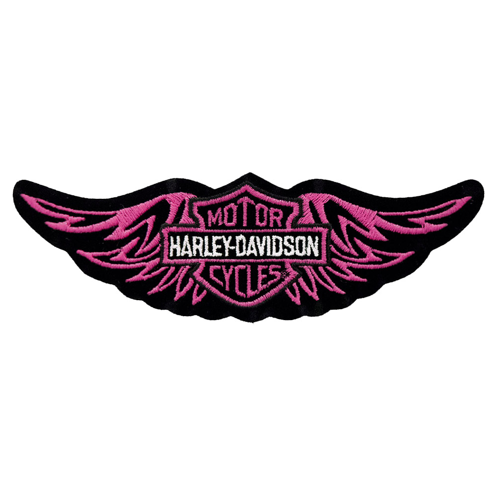 Harley Davidson Classic Pink Straight Wing Patch Motorcycle Patches