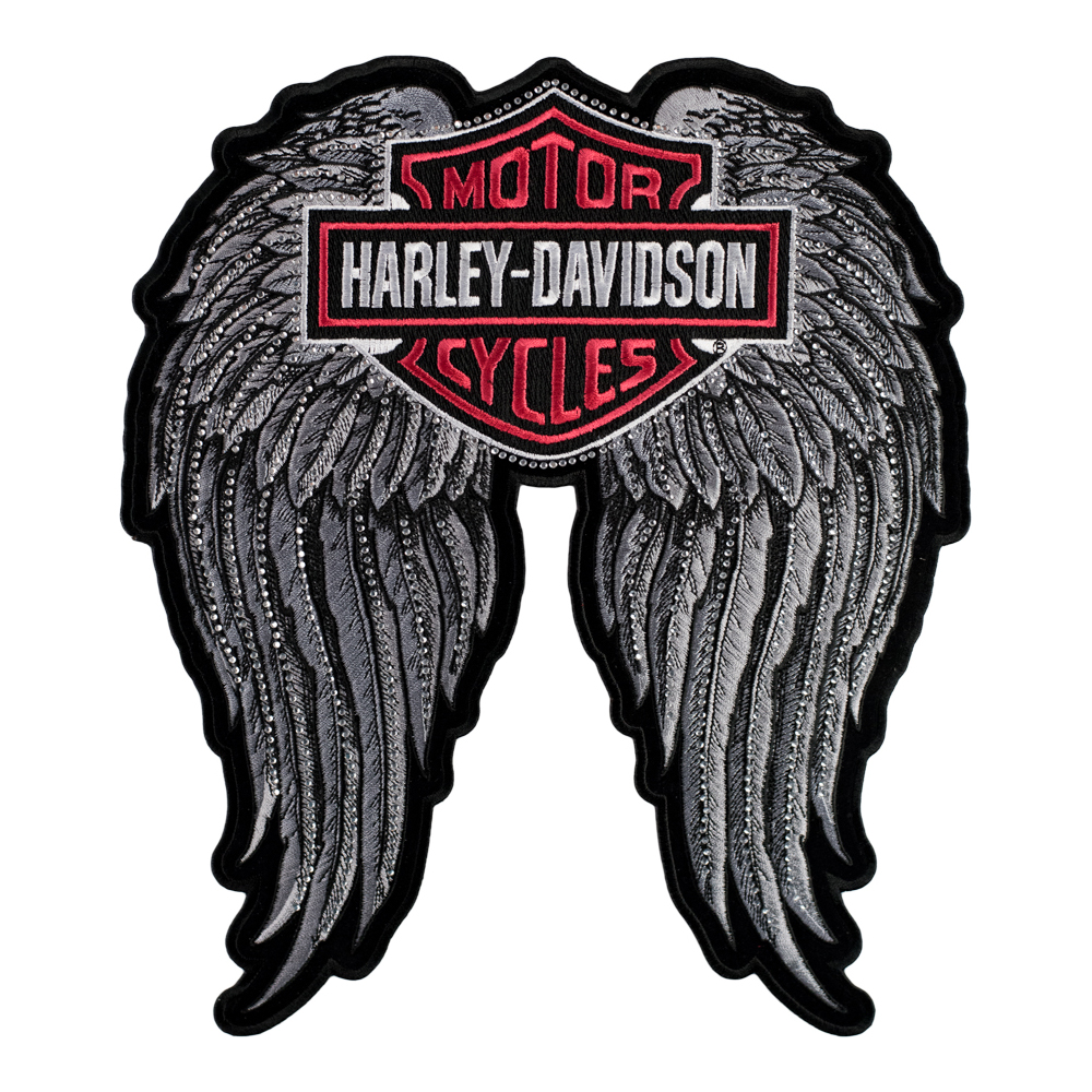 Harley Studded Angel Winged BS Patch