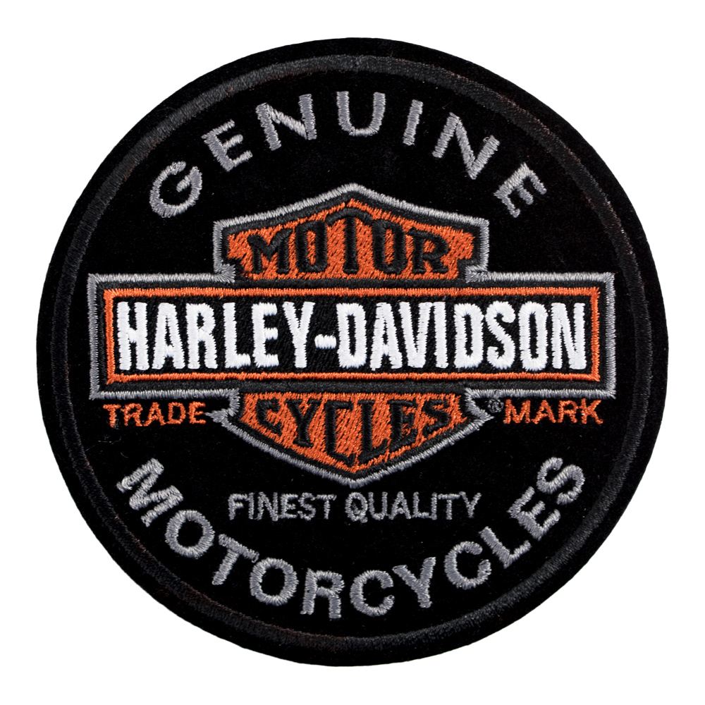 harley davidson long bar shield round patch harley davidson patches rh patchstop com