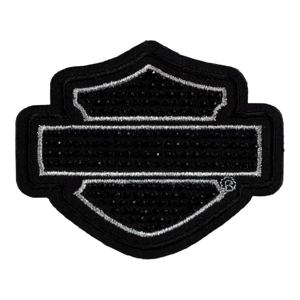 harley davidson studded blank bar shield patch harley davidson rh patchstop com harley davidson logo outline vector