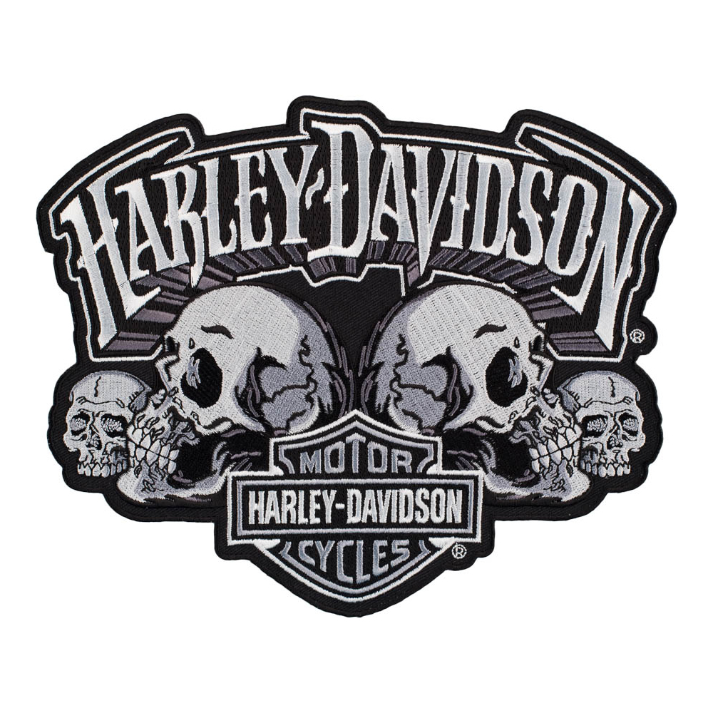 Harley Davidson Skull Text Subdued Bar Shield Patch