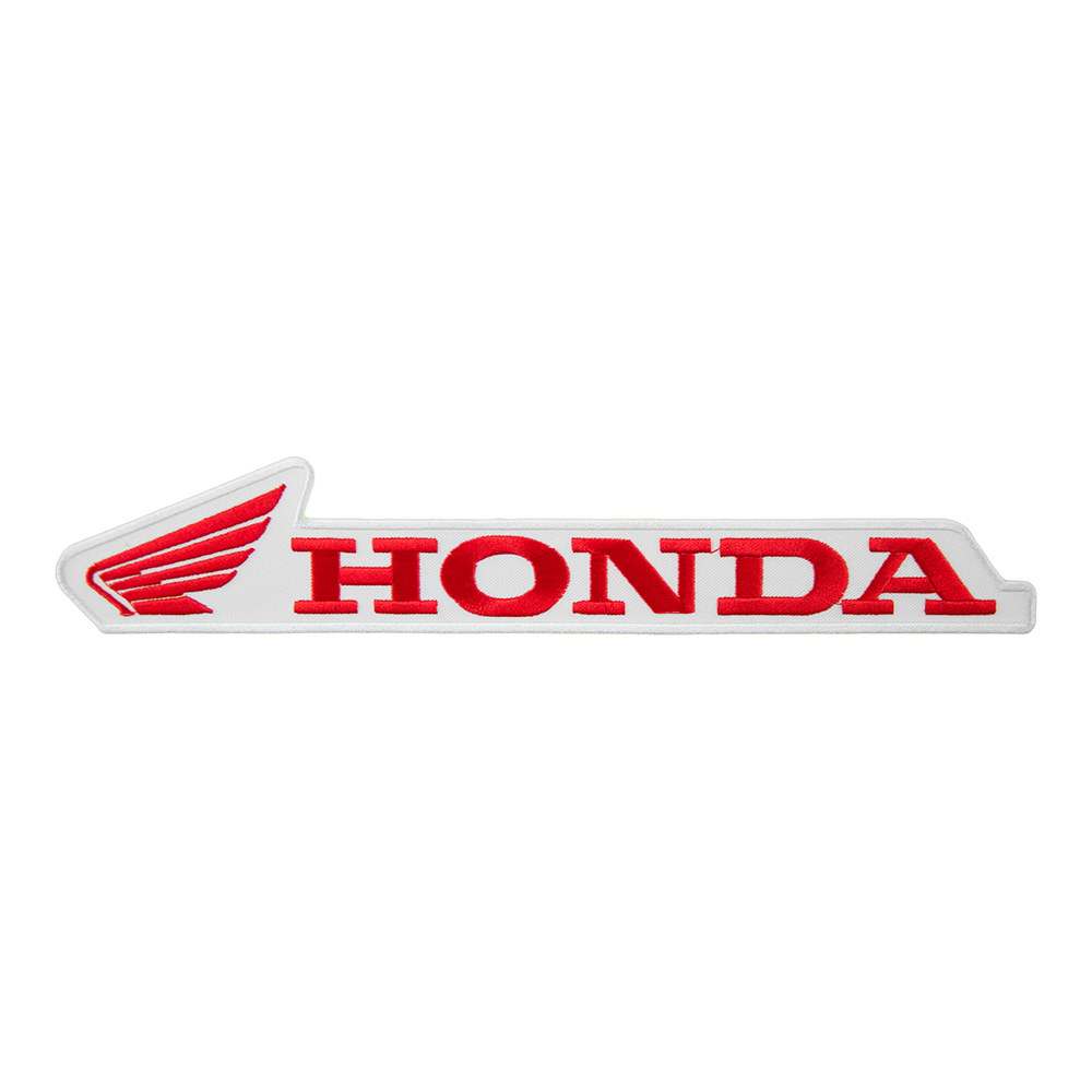 honda powersports red white horizontal wing logo patch honda rh patchstop com honda wing logo sticker honda wing logo history